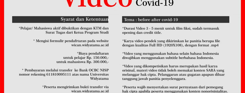 """Lomba Video Pendek """"Before-After Covid 19"""""""
